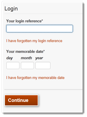 Image of login form